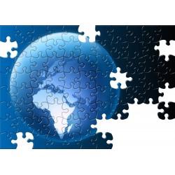 Puzzle reklamowe z nadrukiem, A3 120 elementów, woreczek