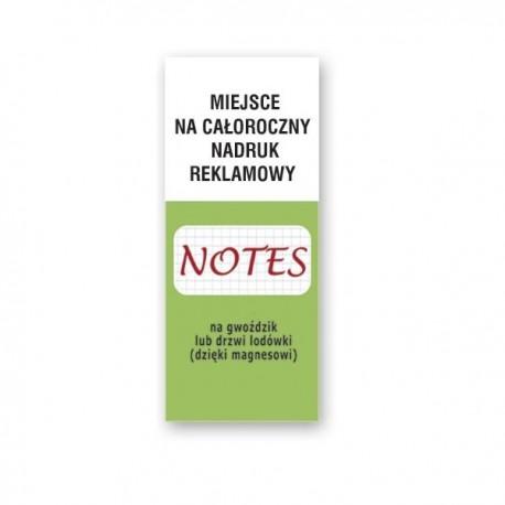 Notes reklamowy magnetyczny, notes na lodówkę