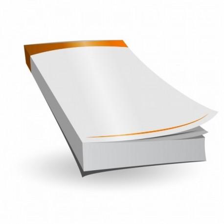 Notesy reklamowe, notes, notatnik A6 klejone bez okładki z własnym nadrukiem