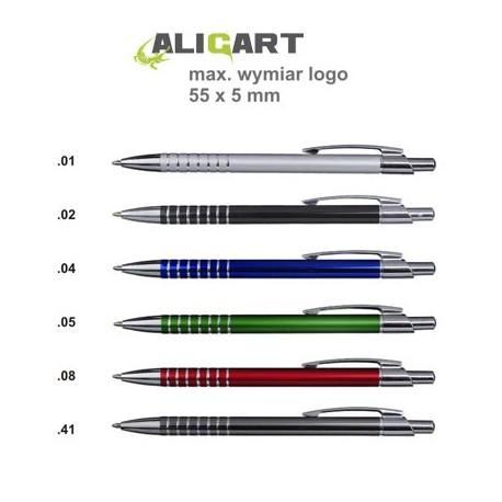 Długopis metalowy, grawer gratis, długopis z logo