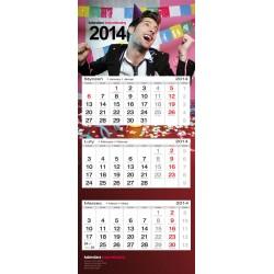 Kalendarz trójdzielny indywidualny, kalendarze trójdzielne, kalendarz reklamowy