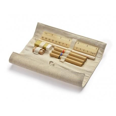 Ekologiczny piórnik zestaw, eko długopis eko ołówek, grawer gratis