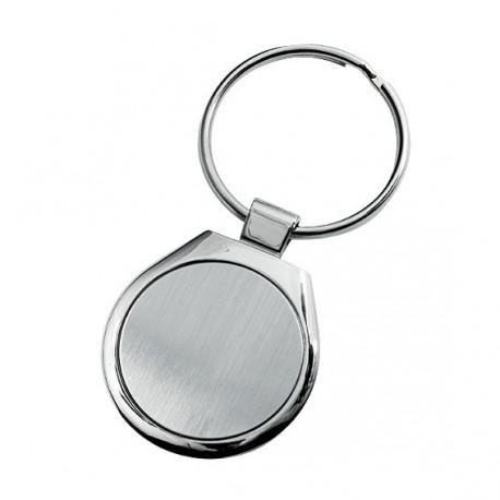 Brelok metalowy okrągły z logo