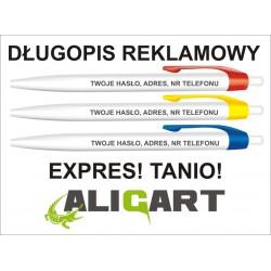 Najtańszy długopis reklamowy z Polsce, długopis z grawerem reklamowym, 500szt.