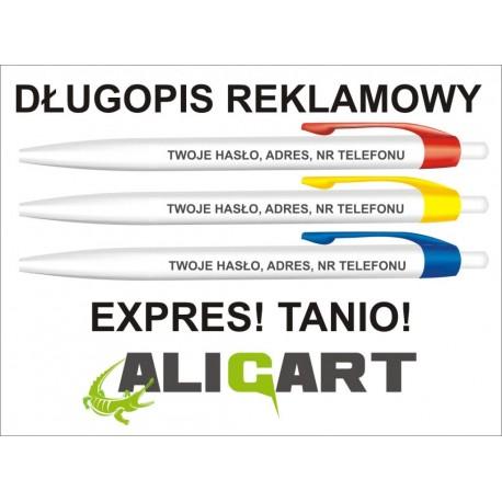 Najtańszy długopis reklamowy z Polsce, długopis z grawerem reklamowym