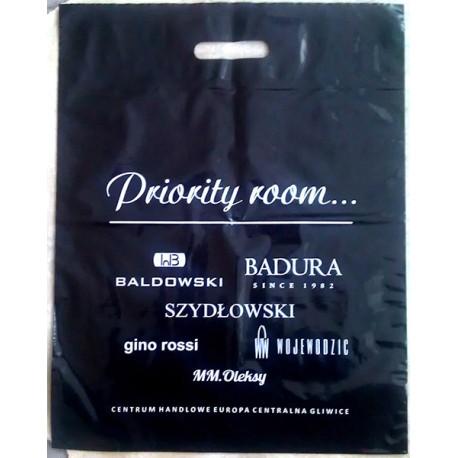 Torba foliowa czarna 20x30cm, reklamówka z nadrukiem