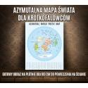 Azymutalna Krótkofalarska mapa świata z prefiksami, fotoobraz na płótnie, oprawiona mapa świata, amateur radio world map